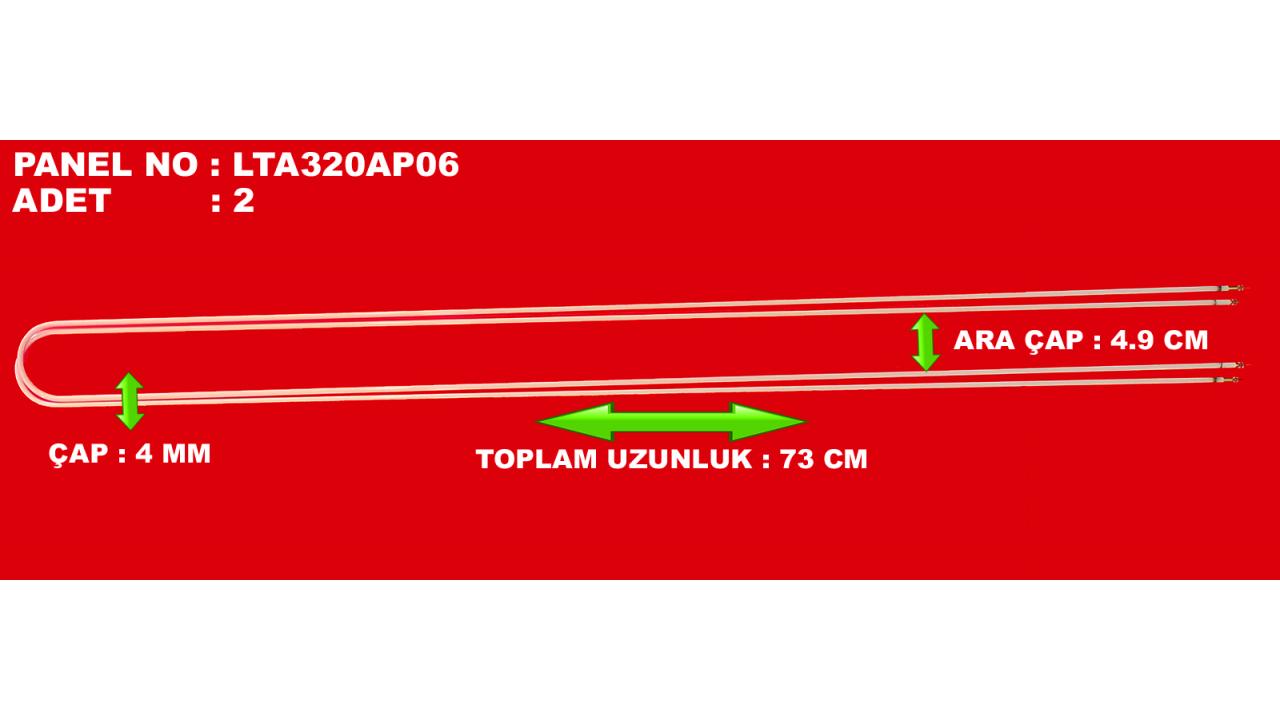 SAMSUNG, LTA320AP06, G32-LCH-0B, UZUNLUK 73CM, ÇAP 4MM, İKİ FLORESAN ARASI ÇAP 4.9CM, LCD FLORESAN