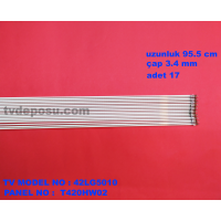LG, T420HW02, 106EKRAN(42), uzunluk95.5 cm, çap 3.4 mm , lcd floresan, 17 adet