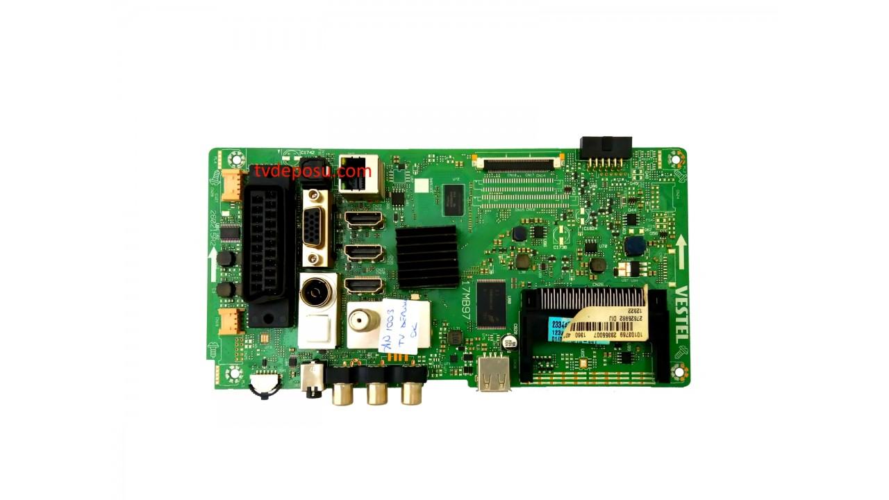 VESTEL, 17MB97, 23355007, 260215R2, 23344564, SMART 40FB7100 40 LED TV, VES400UNVS-2D-N05, MAİN BOARD, ANAKART