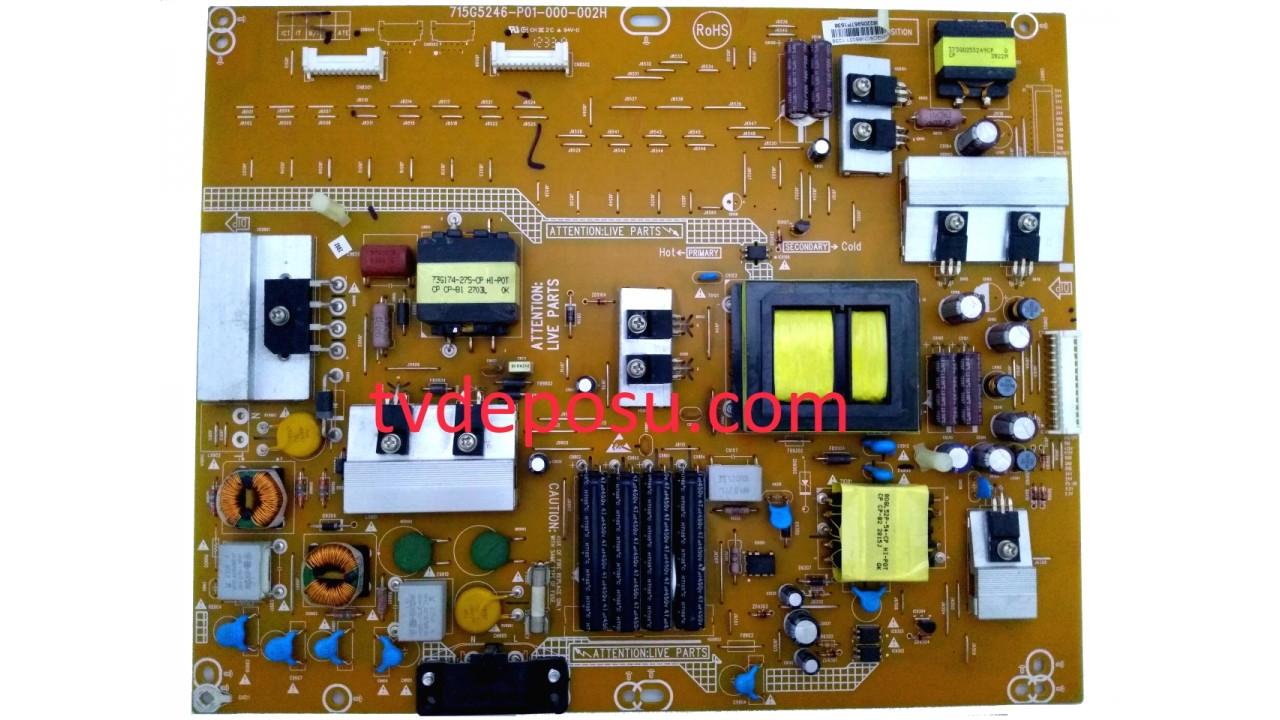 PHİLİPS, 715G5246-P01-000-002H, 42PFL3207H/12, LED TV, POWER BOARD, BESLEME KARTI