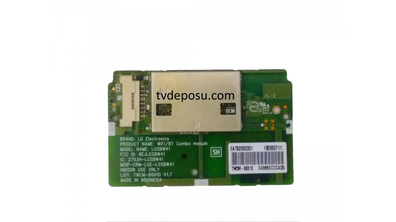 LG, LGSBW41, EAT62093301, LC430EQE-FHM2, 43UF7787,LG LED TV WIFI MODULE